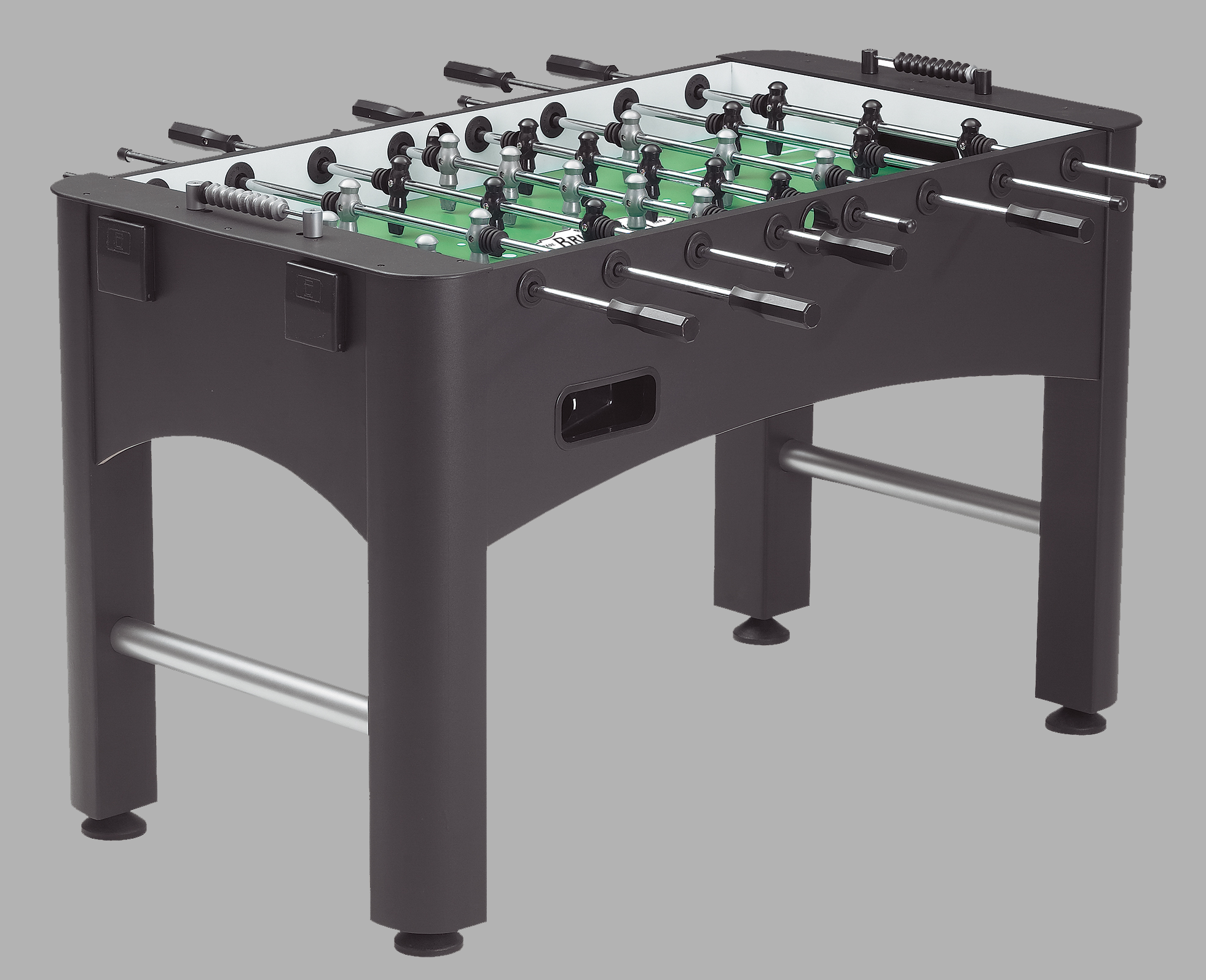 The Kicker Is An Exclusive Sturdy Cabinet With A Matte Black Finish Foosball  Table That Has A Three Man Goalie That Offers A Wall Of Defense And  Incredibly ...