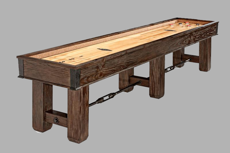With The Same Old World Charm As The Matching Pool Table, It Includes A  Beautiful Hand Rubbed Antique Finish And Metal Hardware.